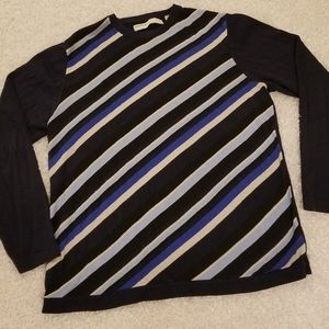 Perry Ellis Mens All Over Printed Crew Sweater/